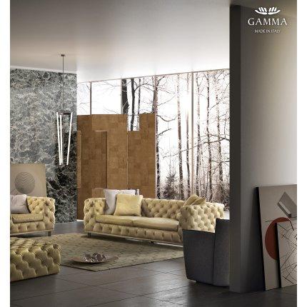 Canapea Gamma Aston cu 3 locuri, 254cm, piele Nabuk H273, HandMade in Italy