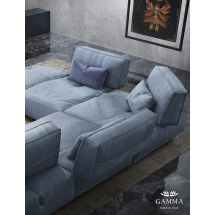 Canapea de colt Gamma Soho 322x266cm stanga, piele Deluxe J706, HandMade in Italy