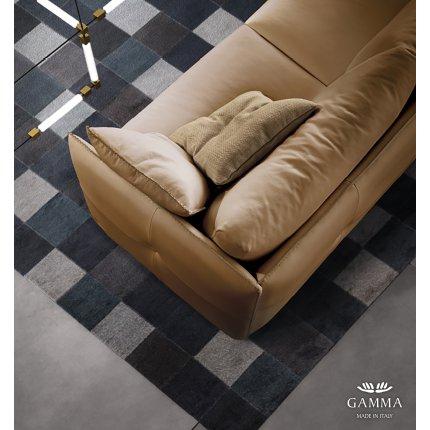 Canapea de colt Gamma Alfred 322x260cm stanga, piele Piuma E531, HandMade in Italy