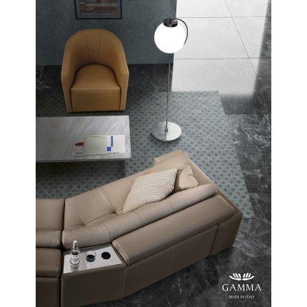 Canapea Gamma Soleado cu 4 locuri, 392cm, piele Nabuk H258, HandMade in Italy
