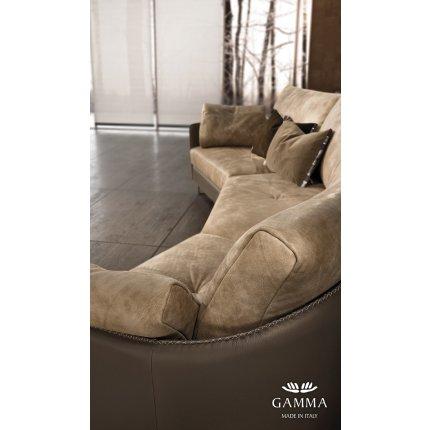 Canapea Gamma Swing cu 3 locuri 292cm, piele Pampas E935, HandMade in Italy