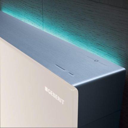 Rezervor wc Geberit Monolith Plus aparent pentru wc suspendat 114cm sticla sand