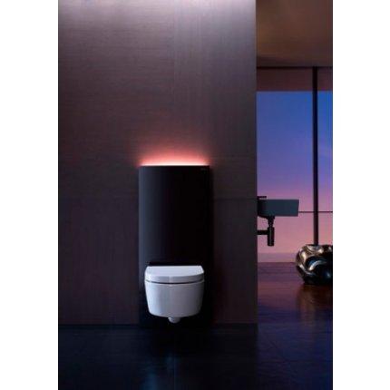 Rezervor wc Geberit Monolith Plus aparent pentru wc suspendat 114cm sticla neagra