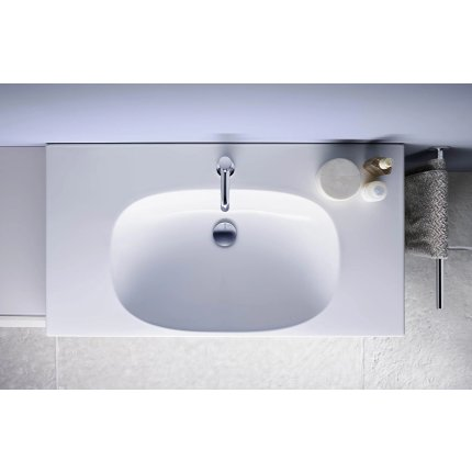 Lavoar Geberit Acanto 90x42.2cm, fara orificiu baterie, alb