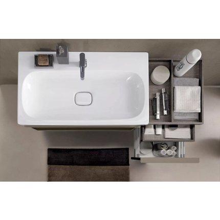 Lavoar Geberit Citterio 90x50cm, fara preaplin, montare pe mobilier, KeraTect alb