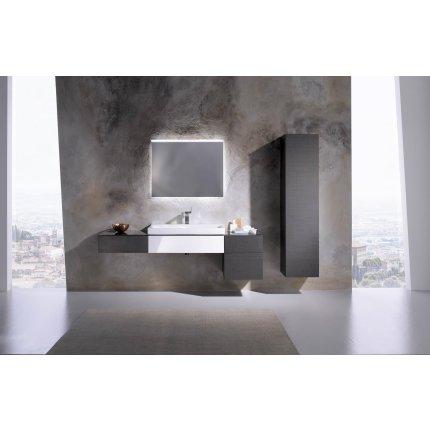 Dulap inalt Geberit Xeno2 40x35.1x170cm, cu o usa si oglinda interioara, alb lucios