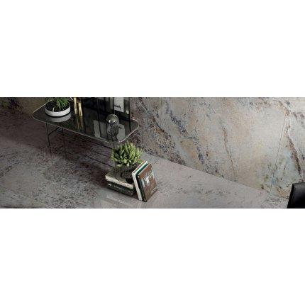 Gresie portelanata rectificata FMG Gemstone Maxfine 75x37.5cm, 6mm, Violet Lucidato