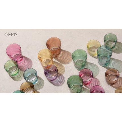 Set 4 pahare LSA International Gems, 560ml, Amber