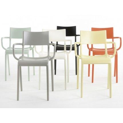 Scaun Kartell Generic A design Philippe Starck, alb