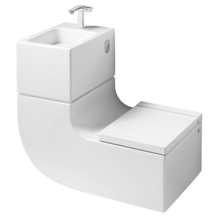 Set concept Roca W+W contine lavoar, baterie lavoar, vas wc si capac