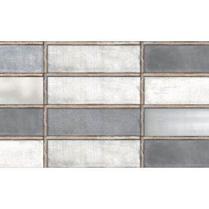 Faianta Diesel living Industrial Glass 10x30cm, 7mm, Grey