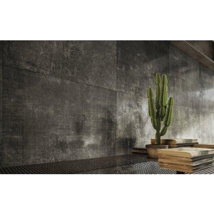 Gresie portelanata rectificata Diesel living Grunge Concrete 60x30cm, 9mm, Rebel Black