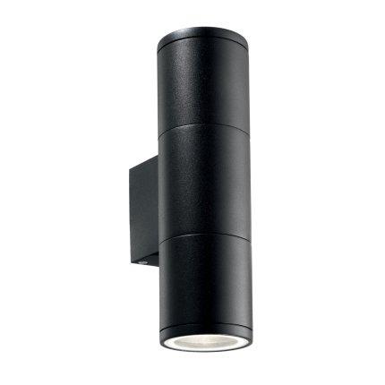 Aplica de exterior Ideal Lux Gun AP2 Small, 2x35W, 6.5x21cm, negru