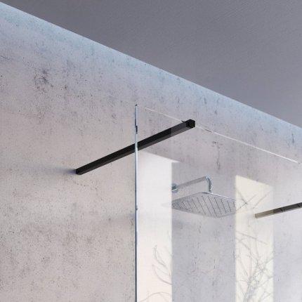 Cabina de dus Walk-in Ravak Wall 90cm, sticla securizata 8cm, crom
