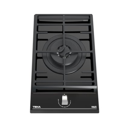 Plita gaz incorporabila Teka GZC 31330 Domino, cu 1 arzator coroana dubla, 30cm, gratar fonta, Cristal negru