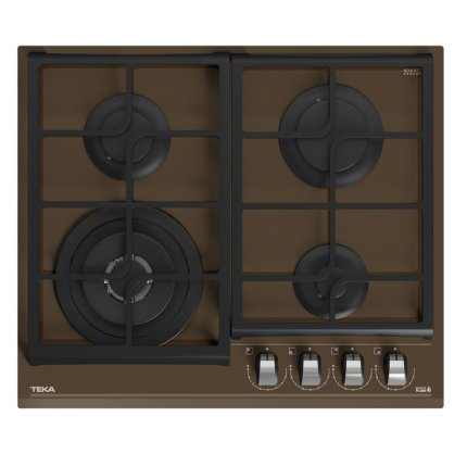 Set Teka Cristal London Brick Brown: Cuptor electric HLB 8600 LB 70 litri + Plita gaz GZC 64320 LB cu 4 arzatoare 60cm