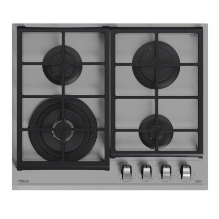 Set Teka Cristal Steam Grey : Cuptor electric HLB 8600 SM 70 litri + plita gaz GZC 64320 SM cu 4 arzatoare