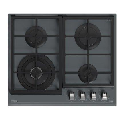 Set Teka Cristal Stone Grey: Cuptor electric HBL 8600 ST 70 litri + plita gaz GZC 64320 ST cu 4 arzatoare