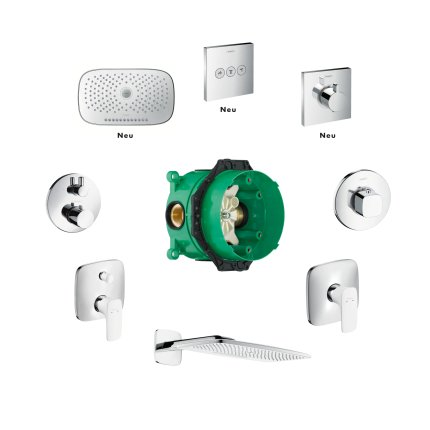Baterie dus termostatata Hansgrohe ShowerSelect cu 1 functie, montaj incastrat, necesita corp ingropat