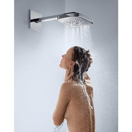 Showerpipe Hansgrohe Raindance Select E 300 cu 3 jeturi si butoane tip Touch