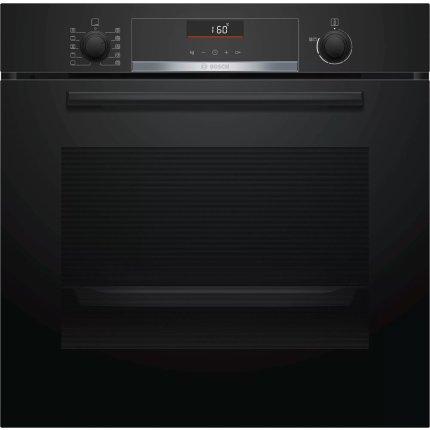 Cuptor electric incorporabil Bosch HBA5360B0 Serie 6, 7 functii, 71 litri, convectie 3D, EcoClean Direct, negru