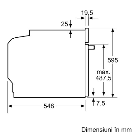 Cuptor electric incorporabil Bosch HBA554YS0 Serie 4, 7 functii, 71 litri, convectie 3D, EcoClean Direct, inox