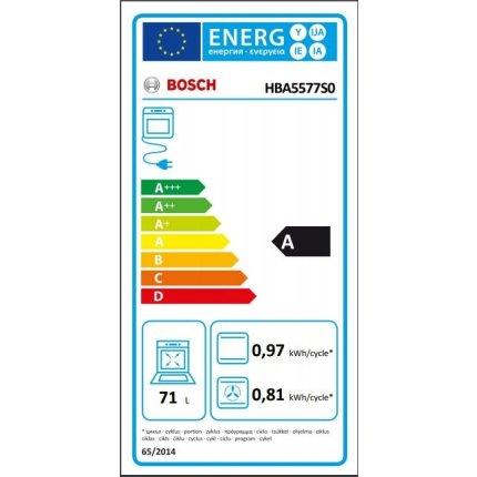 Cuptor electric incorporabil Bosch HBA5577S0 Serie 6, multifunctional 7 functii, 71 litri, EcoClean Direct, inox