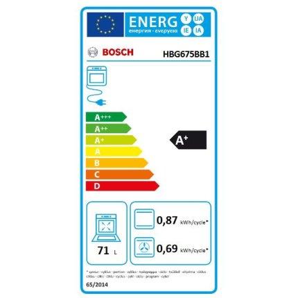 Cuptor electric incorporabil Bosch HBG675BB1 Serie 8, 13 functii, 71 litri, piroliza, AutoPilot10, sticla neagra
