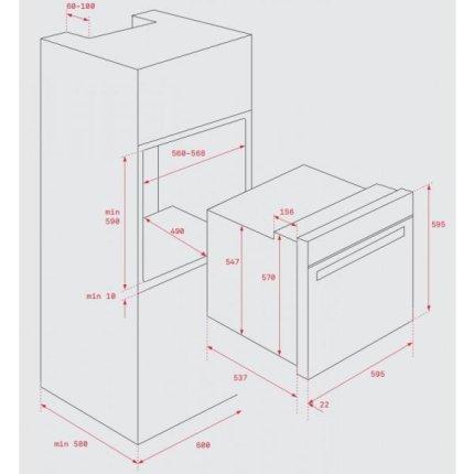 Cuptor electric incorporabil Teka HCB 6435, 65 litri, multifunctional 8 functii, preincalzire mecanica, HydroClean Pro, Clasa A