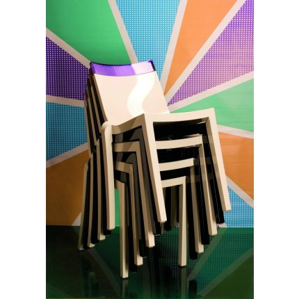 Scaun Kartell HI-CUT design Philippe Stark & Eugeni Quittlet, transparent-gri