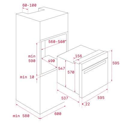 Cuptor electric incorporabil Teka Urban Colours HLB 8600 LB, SurroundTemp 12 functii, Hydroclean, 70 litri, Clasa A+, Cristal London Brick Brown/Infinity Glass