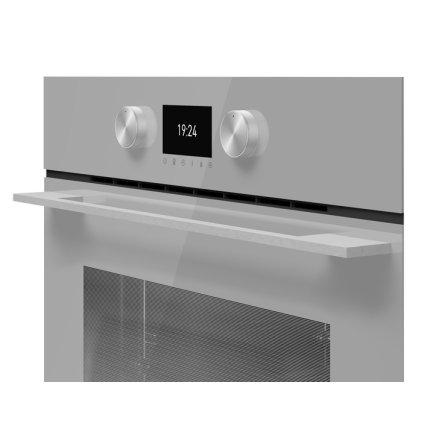 Cuptor electric incorporabil Teka Urban Colours HLB 8600 SM, SurroundTemp 12 functii, Hydroclean, 70 litri, Clasa A+, Cristal Steam Grey/Infinity Glass