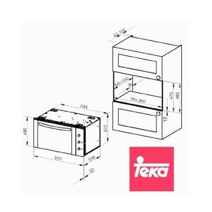 Cuptor electric incorporabil Teka HLF 940 multifunctional 9 functii, 91 litri, 90cm, HydroClean Pro, inox anti-pata