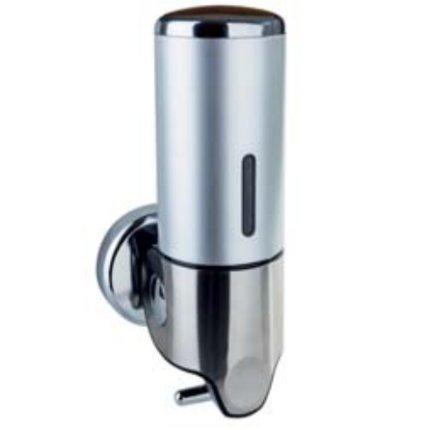 Dispenser sapun lichid Bemeta Hotel plastic cromat 125 x 240 x 100, 500 ml