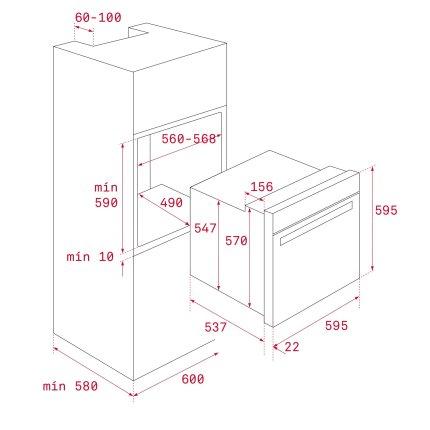 Set Teka Antracit : Cuptor electric HRB 6300 AT 70 litri + Plita gaz EH 60 4G AI AL TR cu 4 arzatoare + Hota decorativa DOS 60, 60 cm