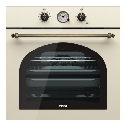 Set Teka Vanilla : Cuptor electric HRB 6300 VN 70 litri + plita gaz EH 60 4G AI AL TR CI VN cu 4 arzatoare + Hota decorativa DOS 60.1