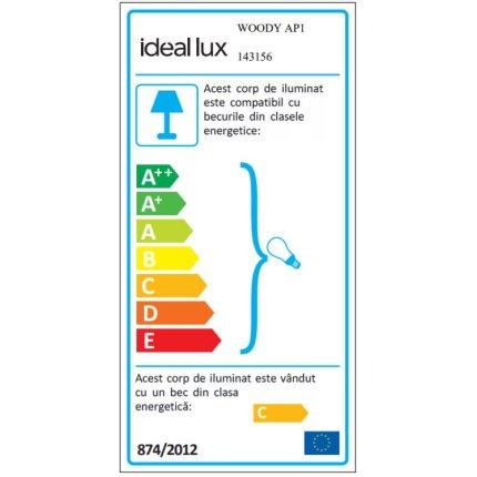 Aplica Ideal Lux Woody AP1, 1x40W G9, alb
