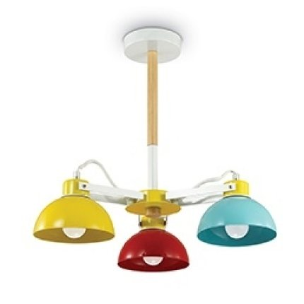 Lustra Ideal Lux Titti PL3, 3x60W E27, d47cm, h43.5cm, multicolor