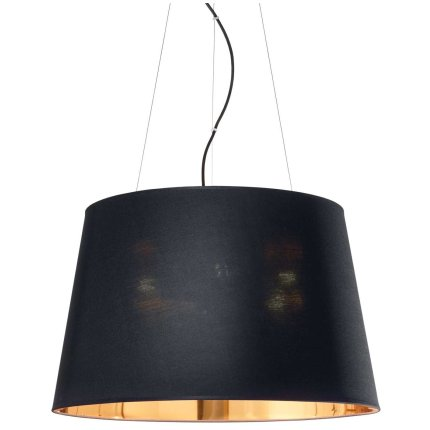 Suspensie Ideal Lux Nordik SP4, 4x60W E27, h34-243cm, negru mat