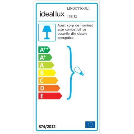 Aplica de tavan Ideal Lux Lingotto PL1, 1x40W E14