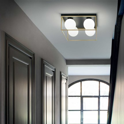 Aplica de tavan Ideal Lux Lingotto PL4, 4x40W E14