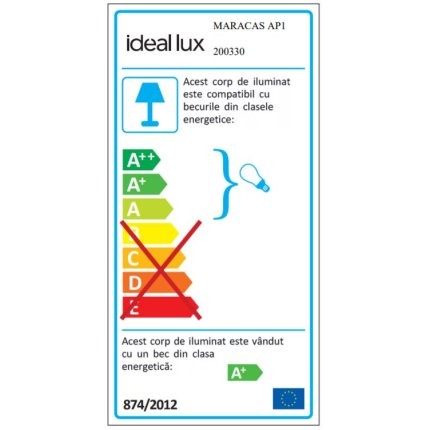 Aplica Ideal Lux Maracas AP1, 1x2W G4