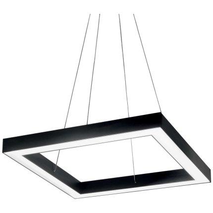 Suspensie Ideal Lux Oracle Square D50, 35W LED, 50x50cm, h120cm, nero