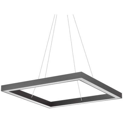 Suspensie Ideal Lux Oracle Square D70, 43W LED, 70x70cm, h120cm, nero
