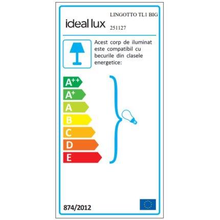 Veioza Ideal Lux Lingotto TL1 BIG,1x40W E14, h22cm