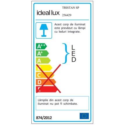 Suspensie Ideal Lux Tristan SP, LED 5W, h43-187cm, alb