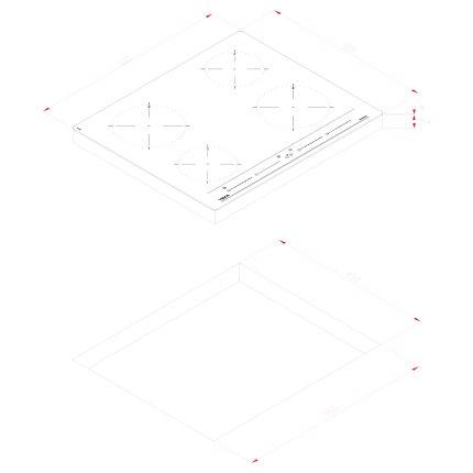 Plita inductie incorporabila Teka IBC 64010 cu 4 zone, 60 cm, fara rama, negru