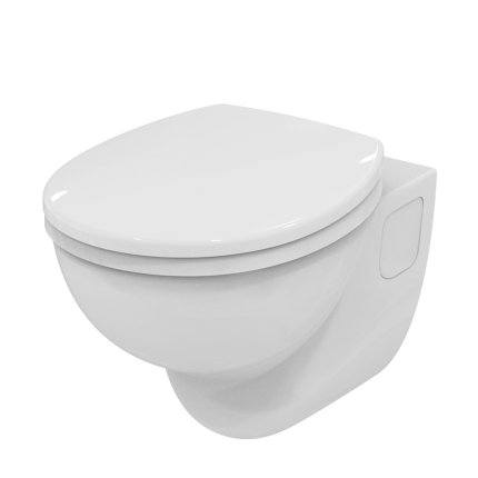 Vas wc suspendat pentru persoane cu dizabilitati Ideal Standard Contour21 proiectie normala sistem rimless