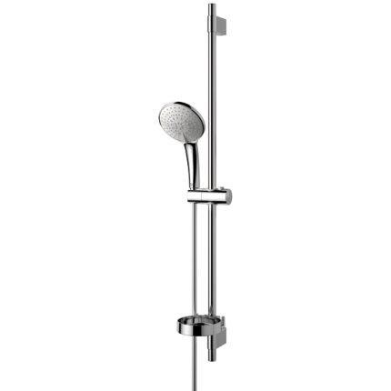 Set de dus Ideal Standard Idealrain Soft L3 cu trei fucntii bara de sustinere tubulara 900 mm si savoniera