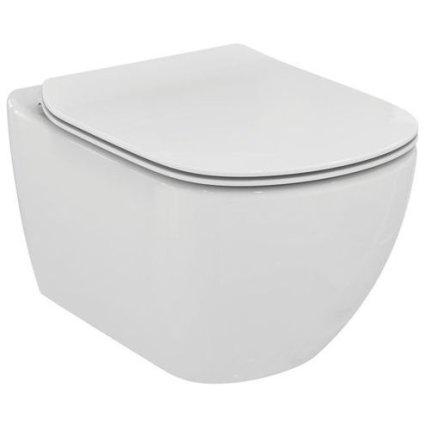 Set vas WC suspendat Ideal Standard Tesi Aquablade si capac slim
